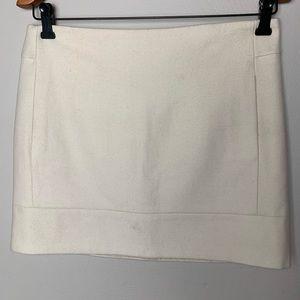J Crew cream double-serge mini wool skirt | 6